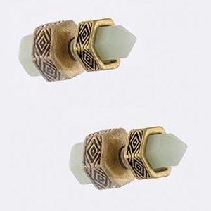 Jewelry - Rare Double Stud Semi Precious Stone Earrings